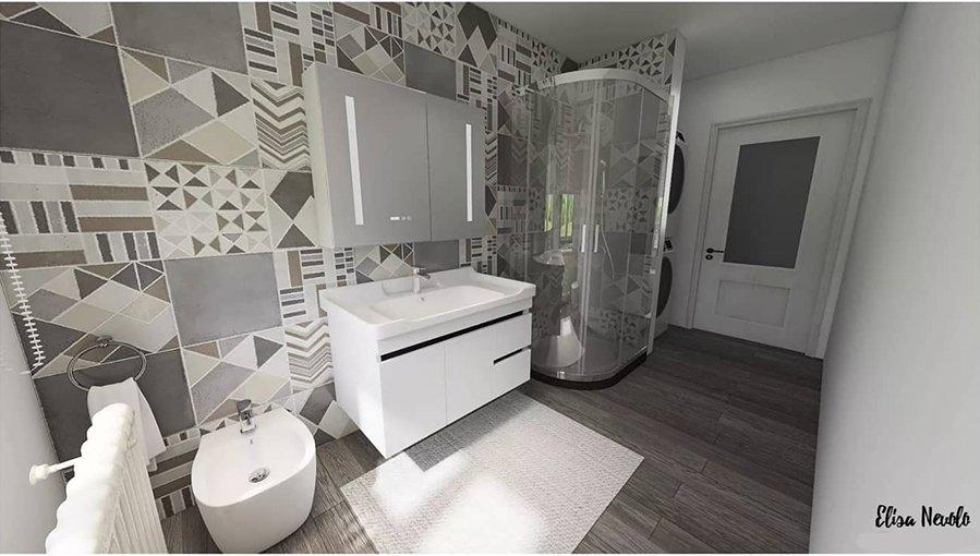 Progetto bagno di Elisa Nevolo - interior designer Biella