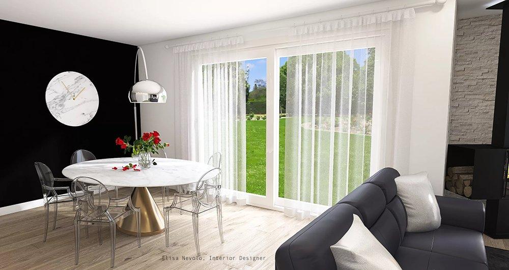 progetto living interior design Biella