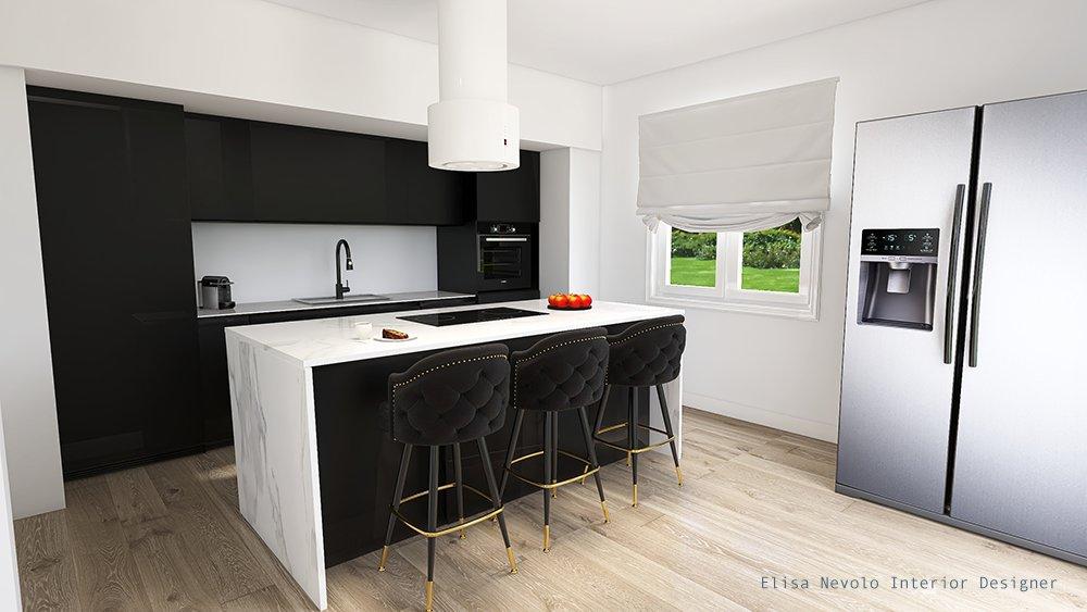 Progetto cucina interior design Biella Piemonte